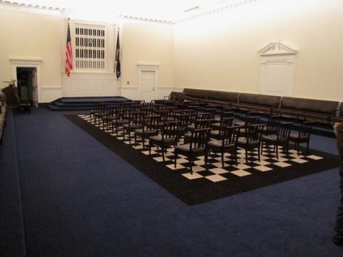 checkerboard floor design