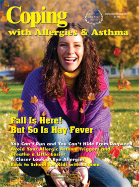 Coping with allergies and asthma magazine cover